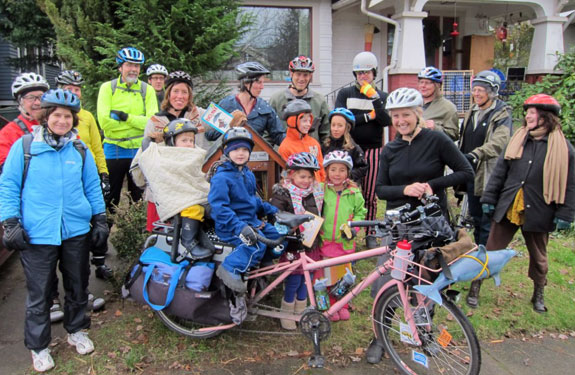 Spokespeople Little Free Libraries Ride in January--photo Courtesy Spokespeople Rides
